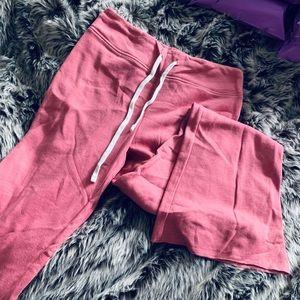Forever 21 Mauve Flare Thin Sweat Pants Pajamas